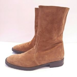 J. Crew Chesnut Suede mid boot size 7